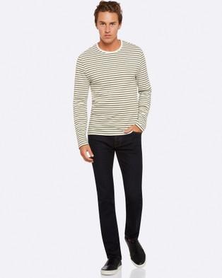 Oxford Parker Striped Crew Neck T Shirt - T-Shirts & Singlets (Green)