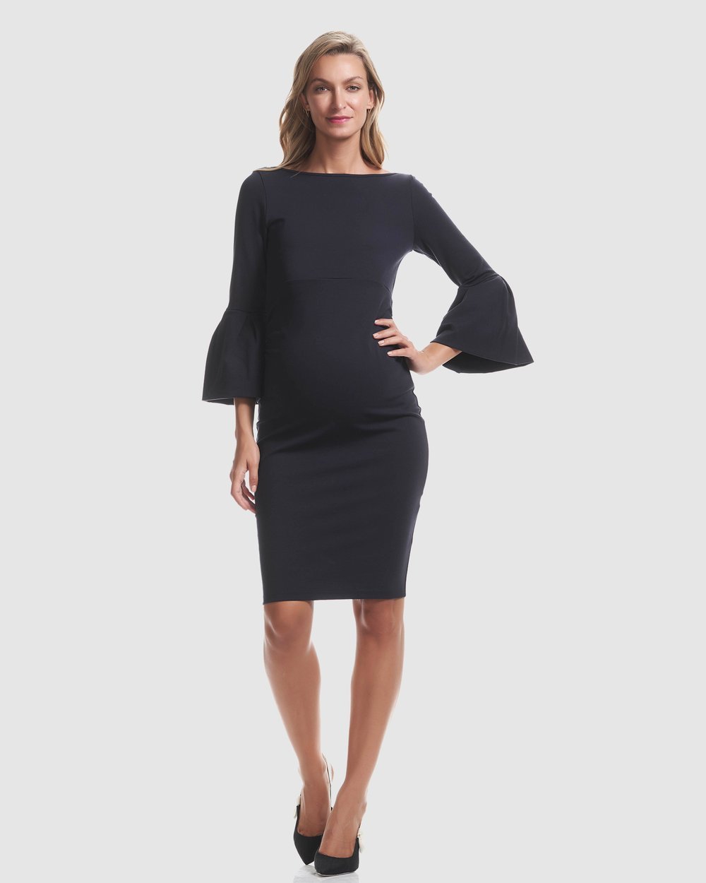 ceacfd35d3d8 Myra Ruffle Maternity Dress by Soon Maternity Online | THE ICONIC |  Australia