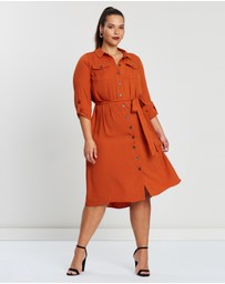 EVANS - Linen Look Shirt Dress