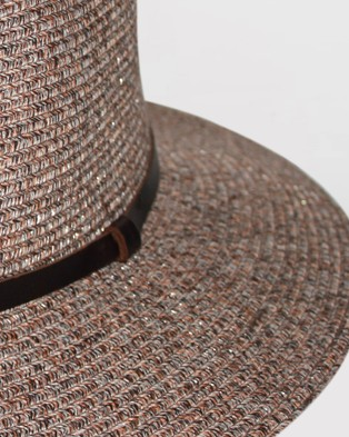 BeforeDark - Alice Fedora Hats (Walnut)