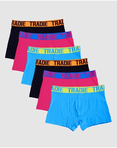 TRADIE - Tradie Mens 6pk Trunks