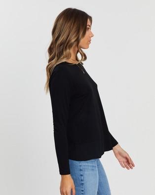 Atmos&Here - Paris Twist Back Tee T-Shirts & Singlets (Black)