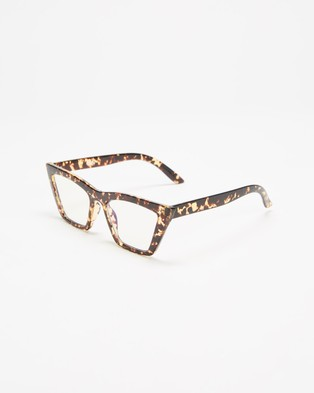 Reality Eyewear Lizette - Optical (Turtle & Blue Light)