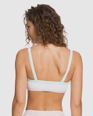 Roxy Womens Pastel Surf Athletic Separate Bikini Top - Bikini Tops (Bright White)