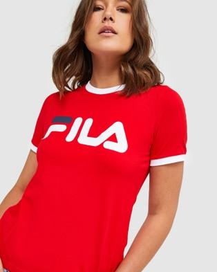 Fila Classic Ringer Tee - T-Shirts & Singlets (Red)