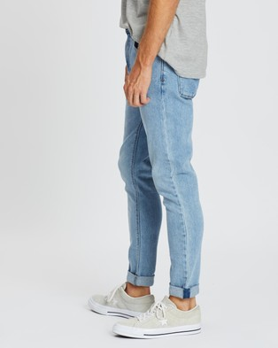 Abrand A Dropped Skinny Turn Up Jeans Yell Blue