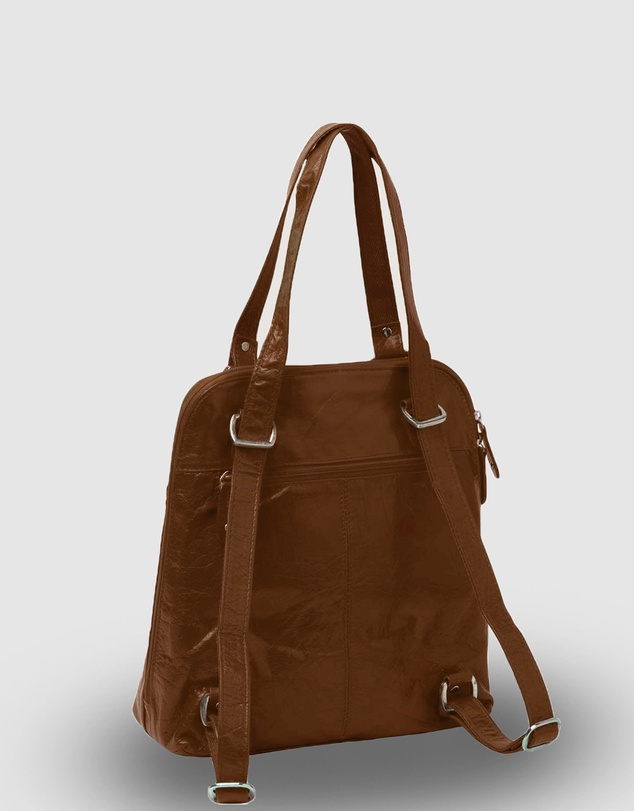 Women Poppy Leather 2 in 1 Convertible Backpack