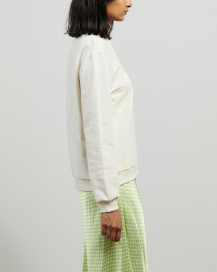 Cecilie Copenhagen Manila Sweater - Sweats (Whisper White)