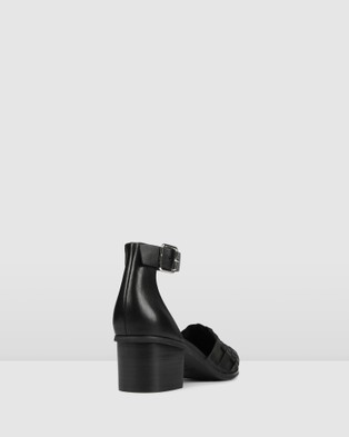 Jo Mercer Sally Low Heels - Mid-low heels (BLACK LEATHER)
