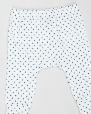 Pappe 2 Pack Joy Stretchy Leggings   Babies - Pants (Grey & Corsair Diamond)