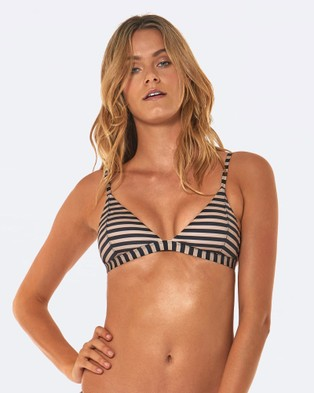 L'urv – Nautical And Nice Bikini Top – Bikini Set Nude/Black