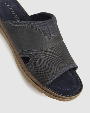 Airflex Guard Mixed Textile Slide - Casual Shoes (Navy)