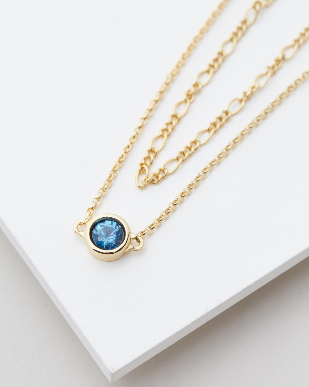 Serge DeNimes Blue Moon Necklace Jewellery Gold