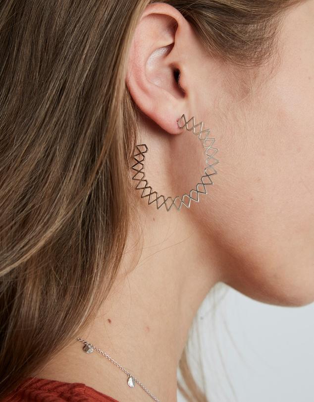Women Spike Hoop Earrings