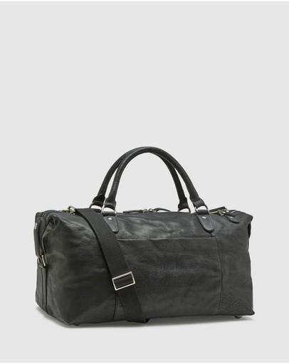 Oxford Yeats Leather Overnight Bag Black
