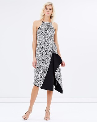 C/MEO COLLECTIVE – On The Run Print Dress – Dresses (Speckle Print)