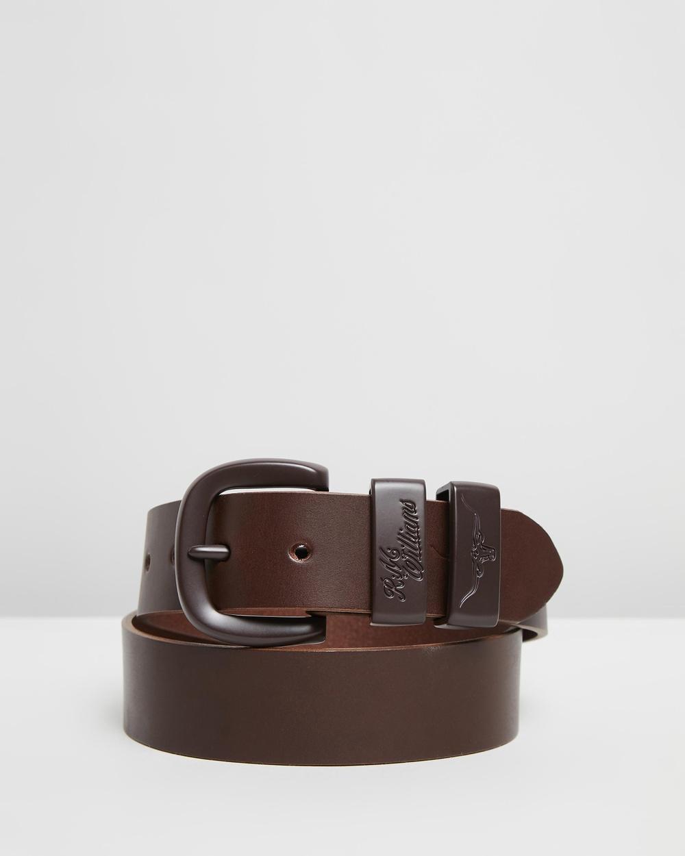 "R.M.Williams ?Drover 1 2"" Belt Belts Chocolate 1-2"""