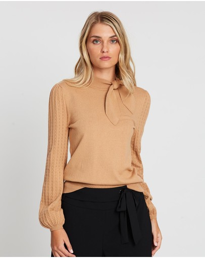 Review - Antoinette Neck Tie Jumper