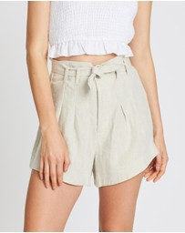 AERE - Pleated Linen Shorts