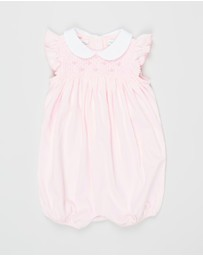 Polo Ralph Lauren - Smocked Interlock Shortall - Babies