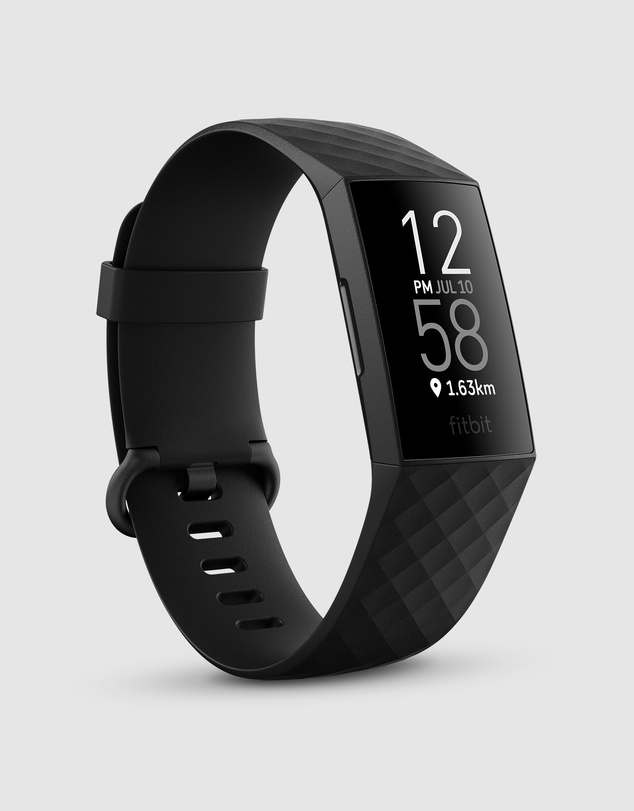 Fitbit - Fitbit Charge 4 Advanced Health and Fitness Tracker - Black
