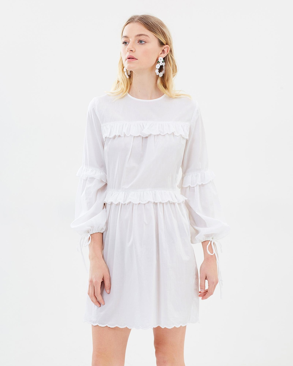 Morrison Adelaide Mini Dress Dresses White Adelaide Mini Dress