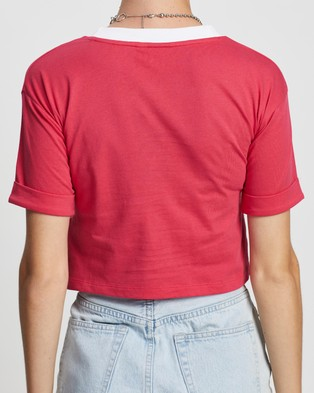 adidas Originals Cropped Top - Cropped tops (Pink & White)