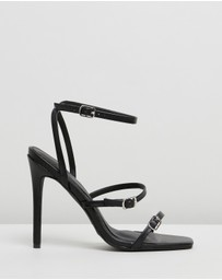 Missguided - Buckle Three-Strap Barely-There Heels