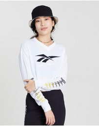 Reebok - Classics Vector Long Sleeve Cropped Top