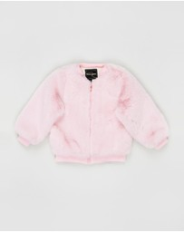 Rock Your Kid - ICONIC EXCLUSIVE Love Heart Faux Fur Jacket