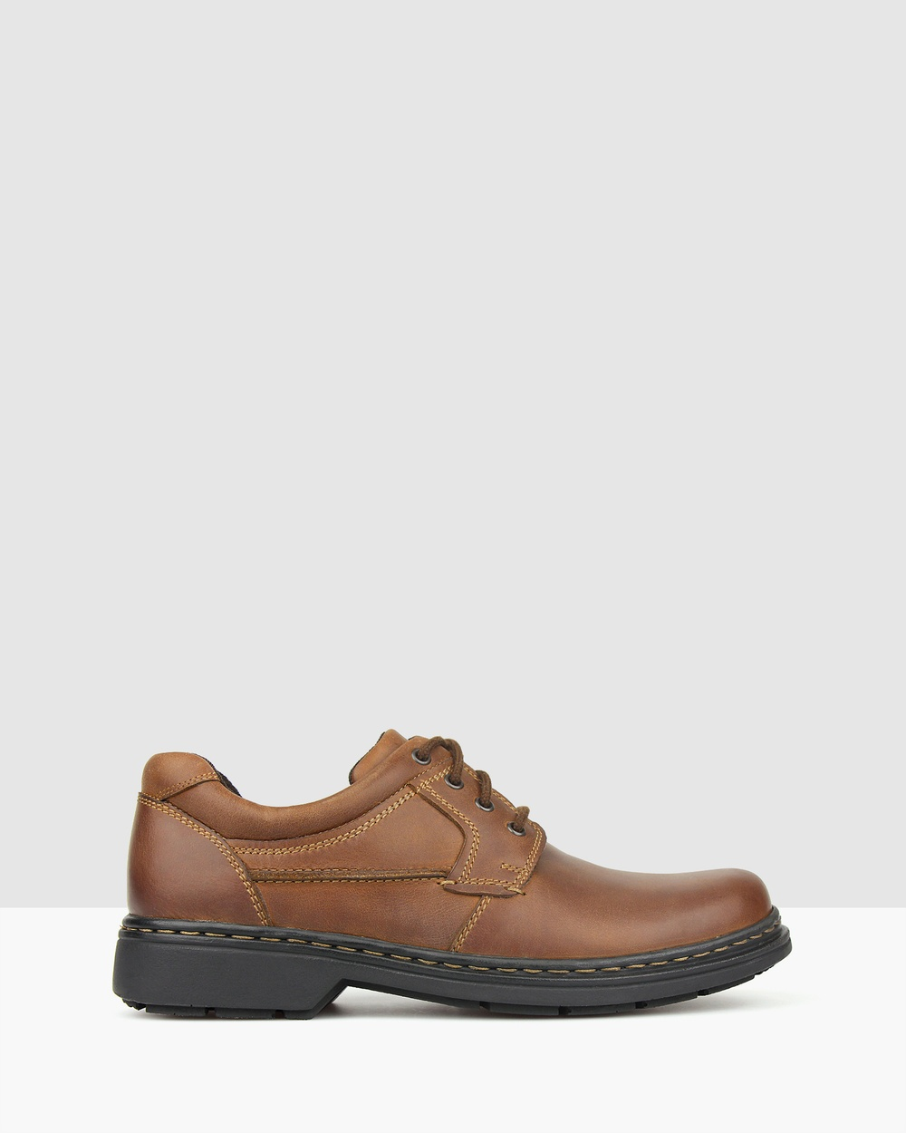 Airflex Larry Leather Lace Up Shoes Casual Chestnut Lace-Up