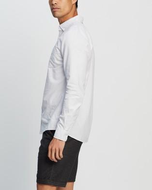 Cotton On Brunswick Shirt 3 - Casual shirts (White Light Grey Stripe)