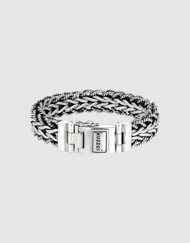 Men Bracelet Armoured Bracelet Link Chain in 925 Sterling Silver
