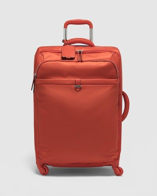 Lipault Paris Plume Avenue Spinner 65cm Expandable Suitcase - Travel and Luggage (Orange)