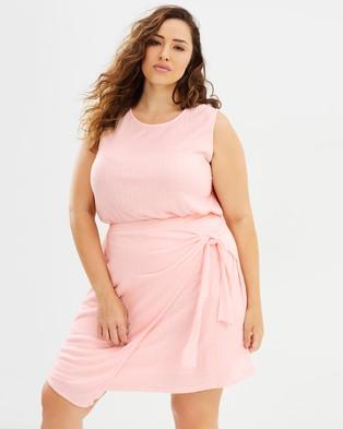 Atmos & Here Curvy – Ella Mini Dress Baby Pink
