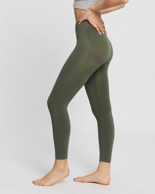 The Legwear Company Eco Shapewear Leggings - Footless Tights (Sage)