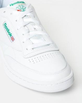 Reebok Club C 85   Unisex - Sneakers (White & Green)