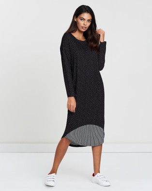 Lincoln St Inset Panel Dress - Dresses (Dots)
