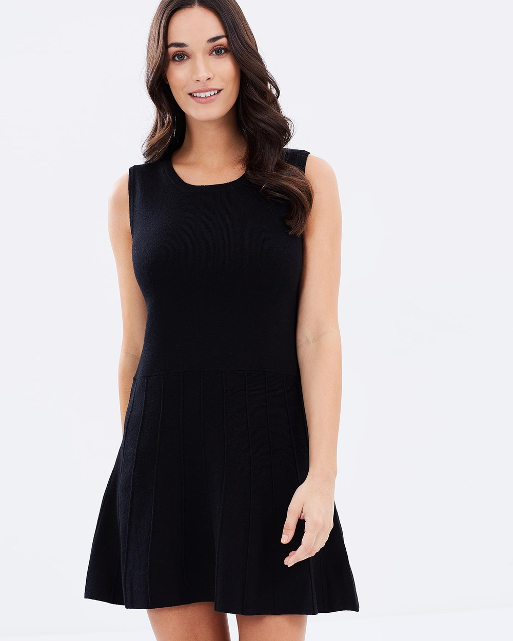 Privilege Knit Dress Dresses Black Knit Dress