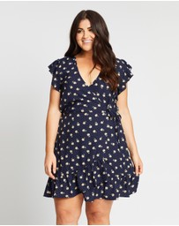 Atmos&Here Curvy - Molly Flutter Sleeve Wrap Dress