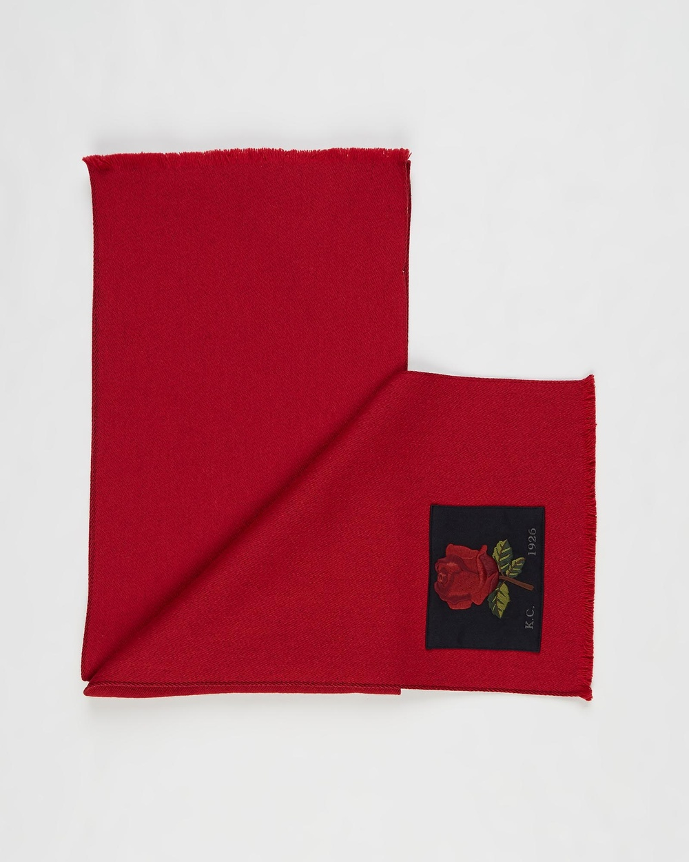 Kent and Curwen Red Rose Scarf Scarves & Gloves Red