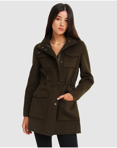 Belle & Bloom - Heartbreaker Wool Blend Utility Coat
