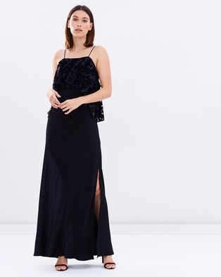 Ginger & Smart – Recollection Gown – Dresses (Black & Navy)