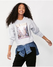 Decjuba Kids - New York Photo Crew Sweatshirt - Teens