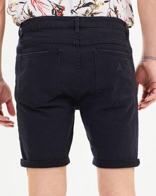 Abrand A Dropped Skinny Shorts Denim Blackout