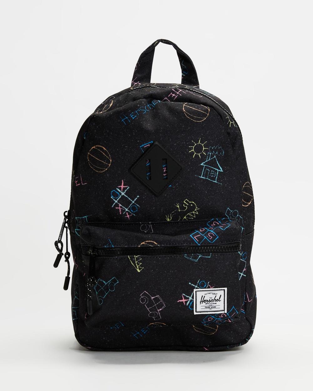 Herschel Heritage Backpack Kids Backpacks Asphalt Chalk