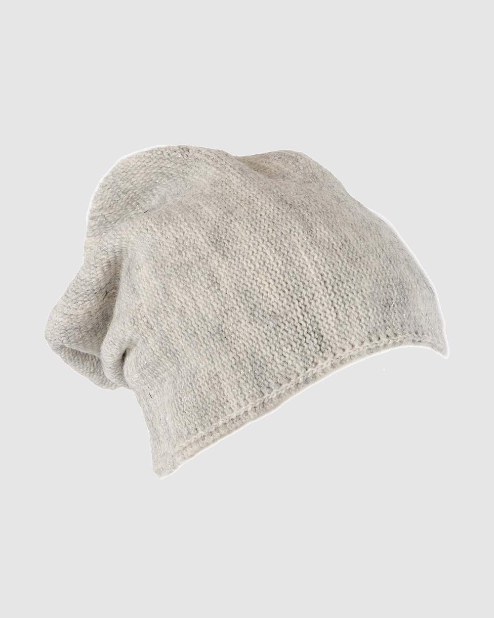 Max Alexander European Made Fashion Wool Beanie Headwear Light Grey