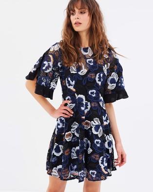 Talulah – Estee Multi Lace Mini Dress Black Multi Lace