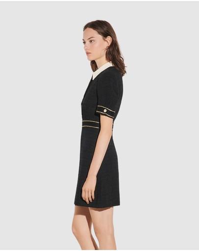 Sandro Lorine Dress Black