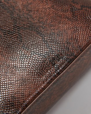 Brie Leon The Chloe - Handbags (Dark Brown Snake Skin)